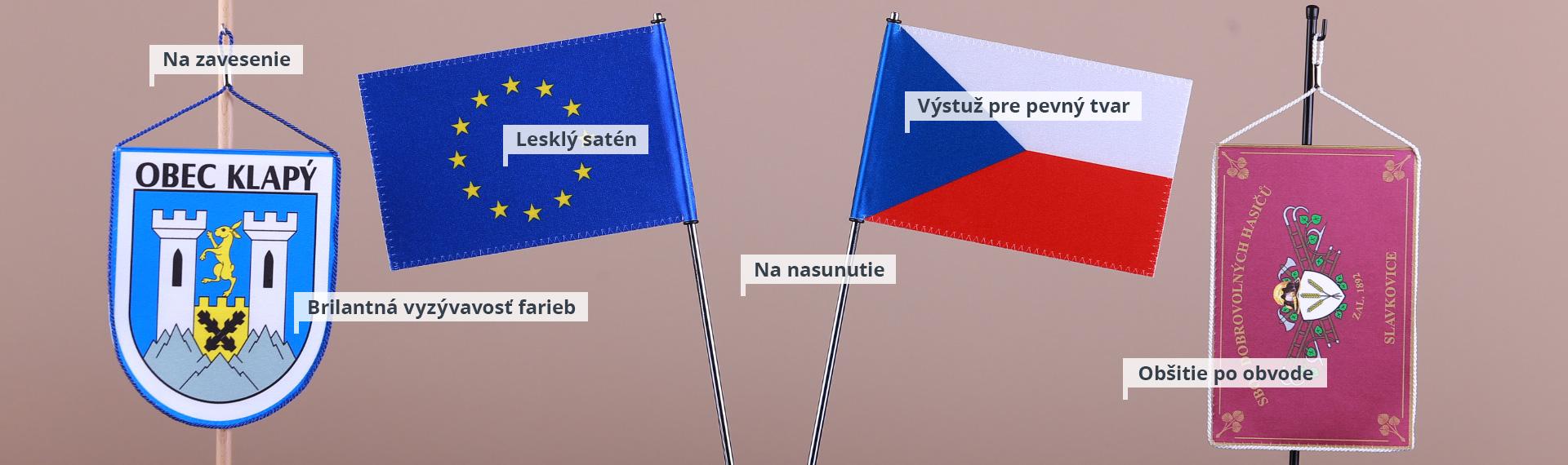 Stolné vlajočky a stojančeky