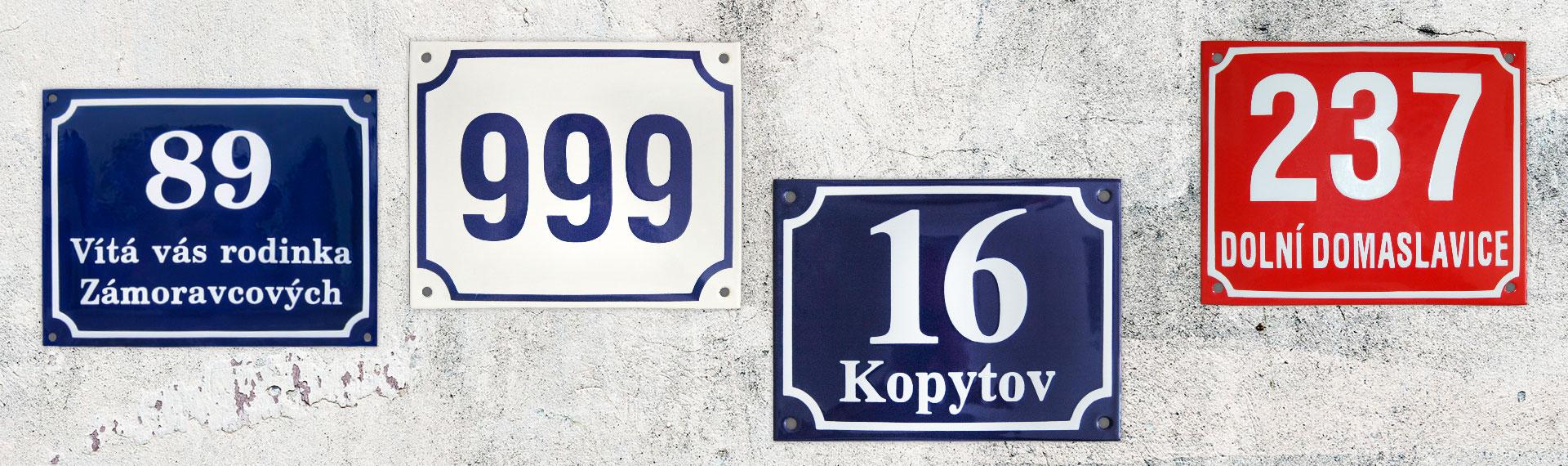 Uličné tabule a domové čísla