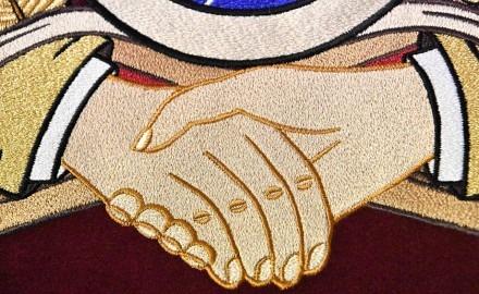 Vyšívaná zástava pre Dobrovoľnú požiarnu ochranu SR