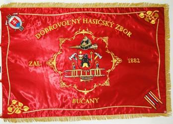 DHZ Bučany - vyšívaná zástava