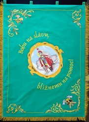 Kópie historickej zástavy DHZ Pezinok