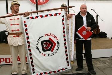 Slávnostná vyšívaná vlajka pre spoločnosť – Požiarna bezpečnost s.r.o.