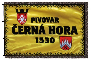 Slávnostný vyšívaný prápor - pivovar Černá Hora