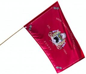 Hasičská vlajka - ukážka zákazkovej výroby