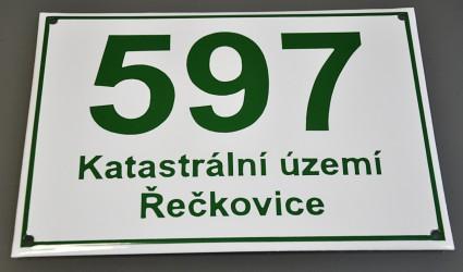 Smaltované evidenčné číslo