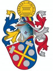 Občiansky heraldický znak so symbolikou firemnou