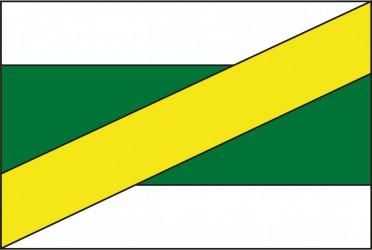 Návrh vlajky pre obec Zvěrkovice v okrese Třebíč