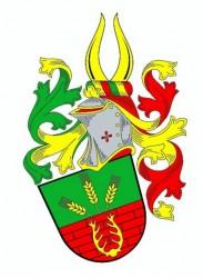Občiansky heraldický znak pána Stanislava Kasla, v ktorom je vyobrazená symbolika stavebnej firmy