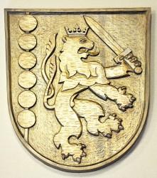 Vyrezávaný znak pro obec Držkov