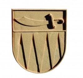 Znak z umelého pieskovca pre obce, mesta a predmestia