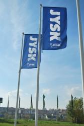 Vonkajšia reklamná vlajka pre JYSK