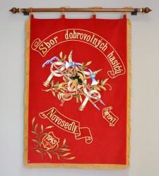 Replika zástavy SDH Novosedly