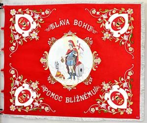 Kópie historickej zástavy DHZ Veľké Kostoľany