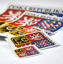 Samolepky velkého štátneho znaku Českej republiky