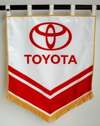 Saténové tlačené vlajky, prápory, znaky pre firmy