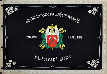 Vyšívaná hasičská zástava SDH Nalžovské Hory