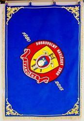 Slávnostná vyšívaná hasičská zástava DHZ Tvarožná