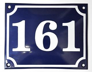 Smaltovaná tabuľka s číslom a rámčekom