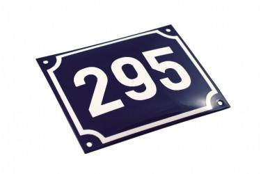 Smaltované číslo domu