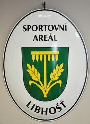 Smaltovaný ovál pre označenie športového areálu