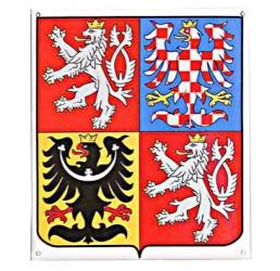 Smaltovaný štátny znak ČR