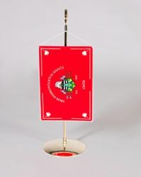 Stolná vlajočka pre hasičov s kovovým stojanom