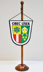 Stolná vlajočka pre obce Lísek