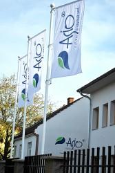 Firemné vonkajšie vlajky pre spoločnosť ASIO