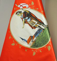 Detail tlačené zástavy - DHZ Bernolákovo