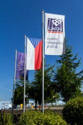 Tlačené firemné vonkajšie vlajky