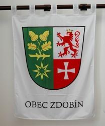 Tlačený znak obce Zdobín vo veľkom prevedení