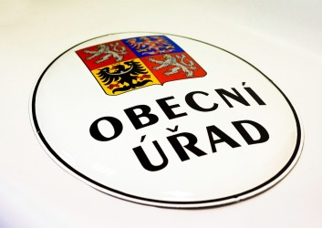 Štátny znak ČR na smaltovanom ováli