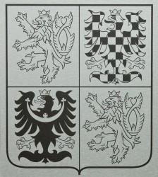 Veľký štátny znak ČR z hliníkovej dosky (dibond)