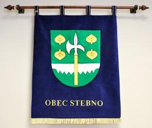 Vyšívaný znak pre obec Stebno
