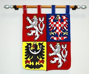 Veľký štátny znak ČR v tvare štítu