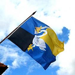 Obecná vlajka na vonkajšej žrdi