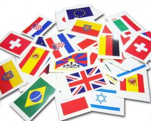 Samolepky vlajok štátov