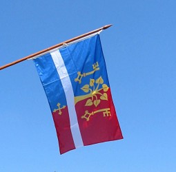 Tlačené vonkajšie vlajky pre obce, mestá, predmestia