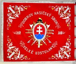 DHZ z obce Veľké Kostoľany sa dočkal kópie historickej zástavy