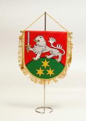 Vyšívané stolné vlajočky a stojany