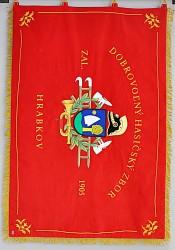 Slávnostný vyšívaná hasičská zástava DHZ Hrabkov