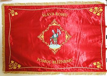 Slávnostná vyšívaná hasičská zástava DHZ Bučany