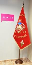 Slávnostný vyšívaný hasičský prápor DHZ Lozorno