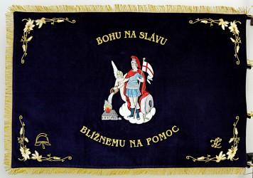Slávnostná vyšívaná hasičská zástava DHZ Župčany