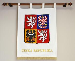 Slávnostný vyšívaný veľký štátny znak ČR