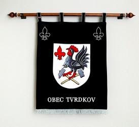 Vyšívaný znak vo veľkom prevedení obec Tvrdkov