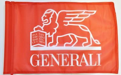 Golfová vlaječka s logem společnosti Generali