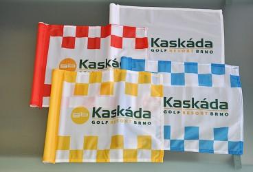 Golfové vlaječky s logem golfového resortu