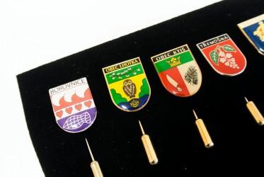 Výroba odznaků pro města, obce, městyse