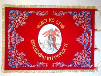Věrná replika historického praporu SDH Dačice